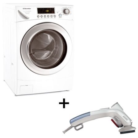 Lavadora e Secadora de Roupas Electrolux + Steamer, 110V