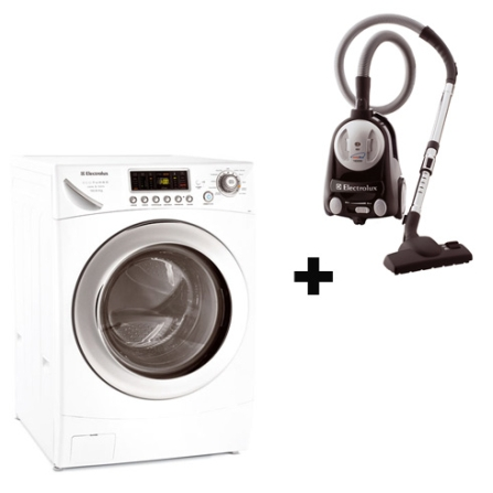 Lavadora e Secadora de Roupas+Aspirador Electrolux, 110V, LB