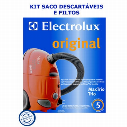 Kit Original de Saco Descartável para Aspirador Max Trio Electrolux - KTMAXTRI1500