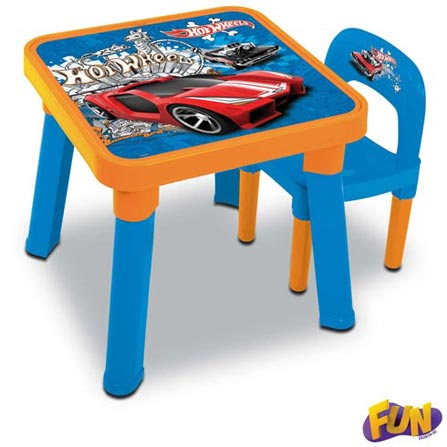Mesa com Cadeira Hot Wheels – Fun, BQ, ABS, 3 meses