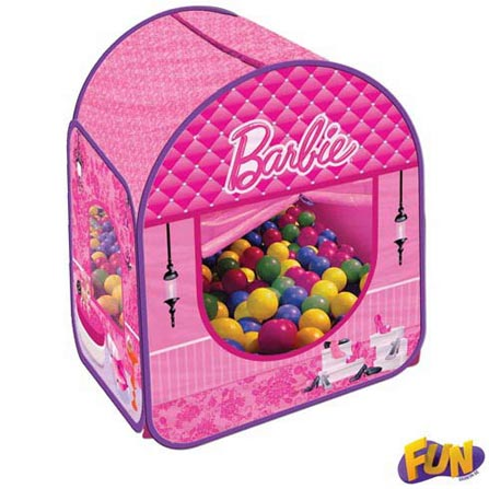 Barraca Infantil da Barbie com 100 Bolinhas – Fun, BQ, Nylon, 3 meses