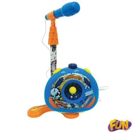 Microfone Karaokê Hot Wheels – Fun, BQ, ABS, 3 meses