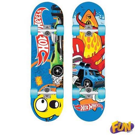 Skate com Acessórios Hot Wheels Barão Toys Fun - 72733