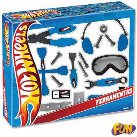 Kit de Ferramentas Hot Wheels – Fun, BQ, ABS, 03 meses