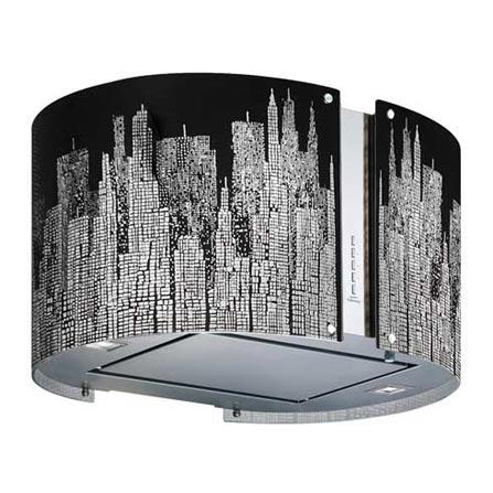 (Aguardando CJ) Coifa de Ilha 60cm com 4 Velocidades / Comando Digital / Inox - Mirabilia - K46513I + Vidro Manhattan -, LB