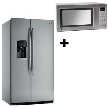 Refrigerador Side by Side 548L + Microondas 31L GE, 110V, LB