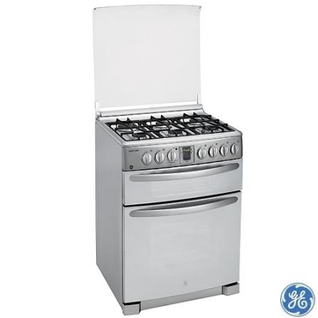 Fogão de Piso 6 Bocas Smart Cook GE, 110V, 220V, LB, Piso, a Gás, 06 Bocas, Superautomático, 02, 120 L (forno a gás) e 34 L (forno elétrico), Inox