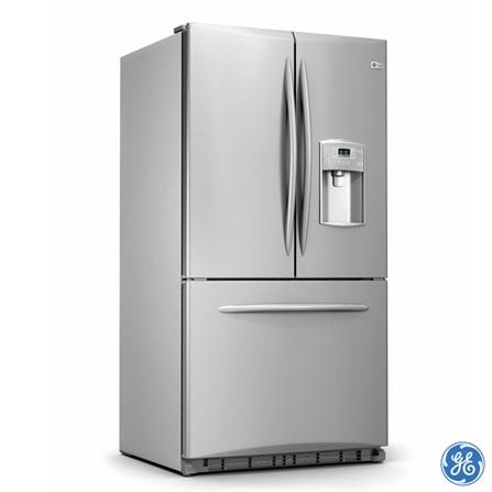 Refrigerador GE French Door 577L Inox, 110V, 220V, LB, French Door, 02 Portas, Sim, Acima de 500 litros, 577 Litros, 104 Litros, 473 Litros, Sim, Classe A, Inox, 01 ano, 7891378030521