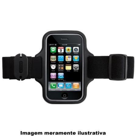 Braçadeira Preta para iPhone e iTouch 3°Geração / Ideal para Praticar esportes - Griffin - 8225IP2STLNB, Preto