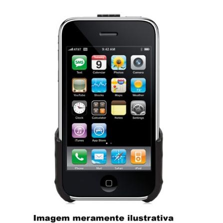 Capa Preta de Plástico Rígido para iPhone 3°Geração / Protege o seu iPhone Contra Arranhões - Griffin - 8226IP2ECPB, 12 meses