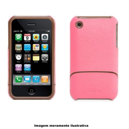 Capa Protetora em Couro Rosa para iPhone 3° Geração - Griffin - 8231IP2EFRMP