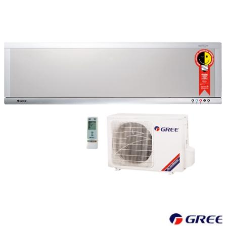 Condicionador de Ar Split Ultra Slim 12.000Btus / Quente/Frio / Prata e Branco - Gree - CJGSW1222REI, 220V, LA, 12.000 BTUs, Split, 12.000 a 18.500 BTUs