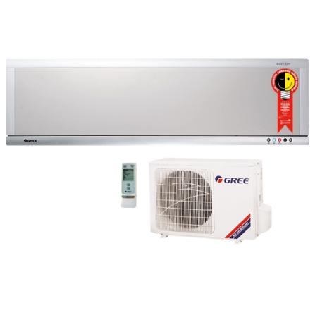 Condicionador de Ar Split Ultra Slim 9.000Btus / Quente/Frio / Prata e Branco - Gree - CJGSW9_22REI, 220V, LA, 9.000 BTUs, Split, 9.000 a 11.500 BTUs