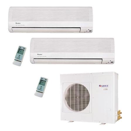 Condicionador de Ar Bi Split Wall 2x 9000Btus / Eletrônico / Frio / Branco - Gree - CJGSWD9_22LO, 220V, 9.000 BTUs, Split, 9.000 a 11.500 BTUs