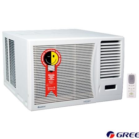 Condicionador de Ar Janela 10.000Btus / Eletrônico / Frio / Branco - Gree - GJ10_22LA, 220V, LA, 10.000 BTUs, Janela, 9.000 a 11.500 BTUs