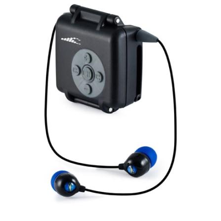 Fone de Ouvido Preto para iPod Shuffle com Pontas de Silicone - H2O - ISH35A1, Preto, Intra-auricular, 03 meses