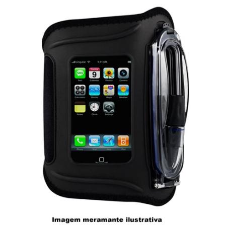 Braçadeira de Neoprene Preta para iPhone 3° Geração / Ideal para Praticar Esportes - H2O - WA15A1, Preto