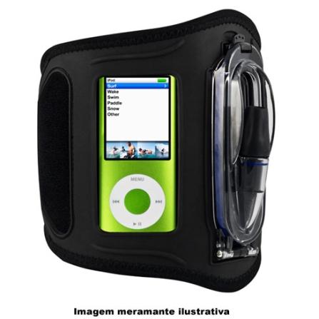 (ver Promoção) Braçadeira de Policarbonato Preta para iPod / Ideal para Praticar Esportes - H2O - WA25A1, 03 meses