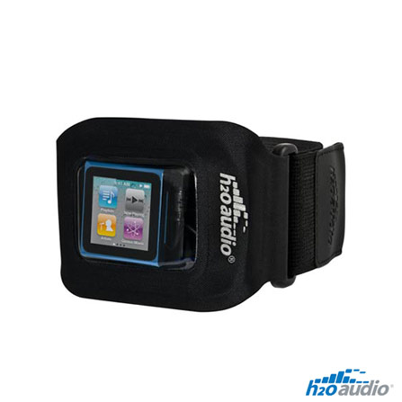 Braçadeira Preto à Prova D'Água para iPod Nano H2O, 12 meses