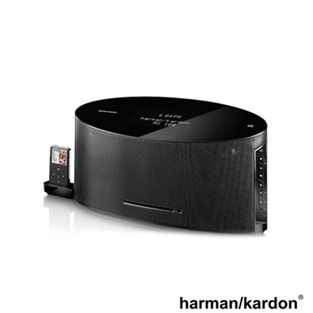 Micro System c/dock Harman Kardon c/saída de video, Bivolt, Bivolt, Preto, 12 meses
