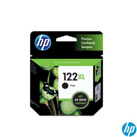 Cartucho de Tinta HP 122XL Preto - Alto Rendimento, Cartuchos