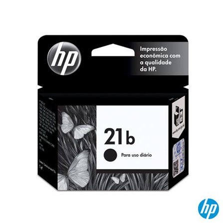 Cartucho de Tinta HP 21b Preto Everyday, Cartuchos