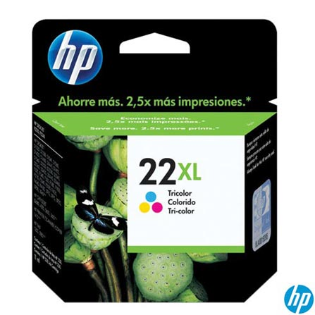 Cartucho de Tinta HP 22XL Tricolor, Cartuchos