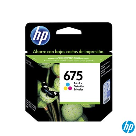Cartucho de Tinta HP 675 Tricolor, para Officejet, Cartuchos