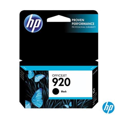 Cartucho de Tinta HP 920 Preto, para HP Officejet  6000, 6000WL, 6500 e 6500WL, Cartuchos
