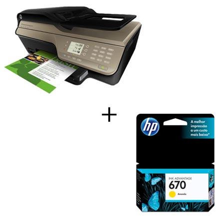 Multifuncional HP Deskjet Ink Advantage 4625 (Imprime, Copia e Digitaliza) a Jato de Tinta Colorido com e-Print + Cartuc