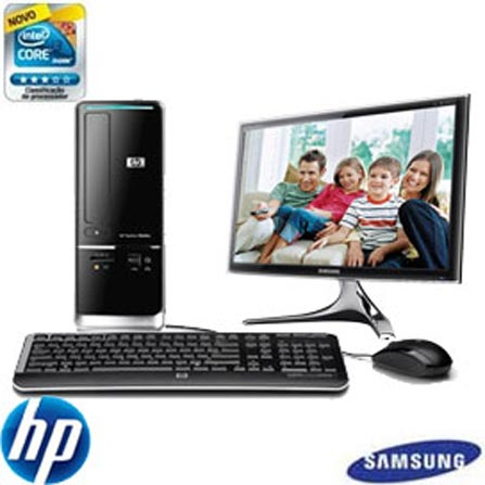 Computador Pavillion Slimline S5620BR com Processador Intel Core i3-550 / 4GB / 1TB / DVDRW / Windows 7 Home Basic 64 Bi