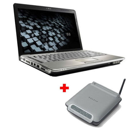 (41120_NG) Notebook Pavilion com Intel Pentium Dual Core T3200 / 2GB / HD 160GB / DVD±RW / Webcam com Microfones / Tela 14.1