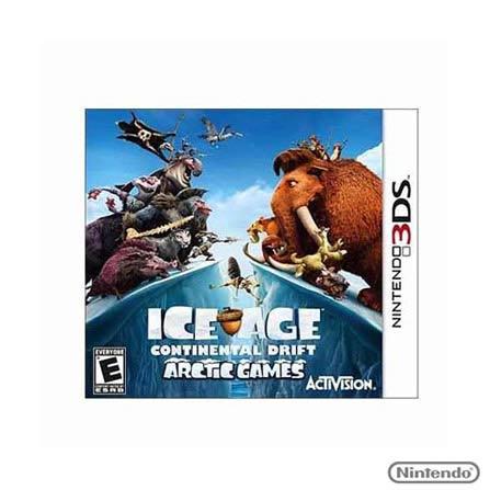 Jogo Ice Age:Continental Drift Arctic para Nintendo 3DS, Nintendo DSi/DS, Aventura, Game Card, 12 anos, Não especificado, Não especificado, 03 meses