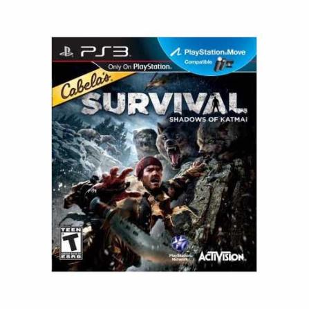 Jogo Cabelas's Survival Adventures para PS3  + Blu-Ray Cabela's Survival Adventures para PS3