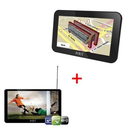 GPS D500 c/Sintonizador de TV+GPS E430 Touch Airis