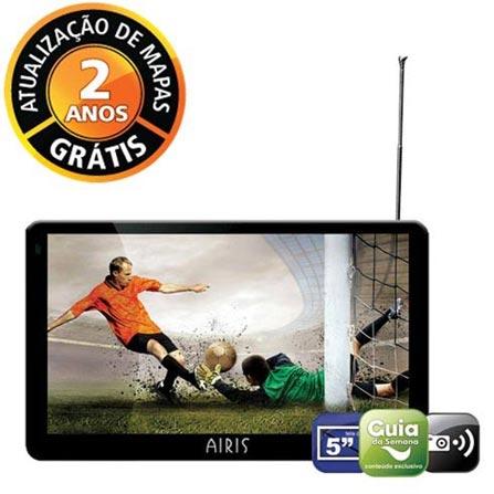Navegador GPS D500 com Sintonizador de TV Digital e Mapas 3D / Tela Touch de 5.0