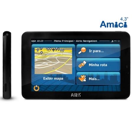 Navegador GPS Airis Amici 4 com Tela de 4.3