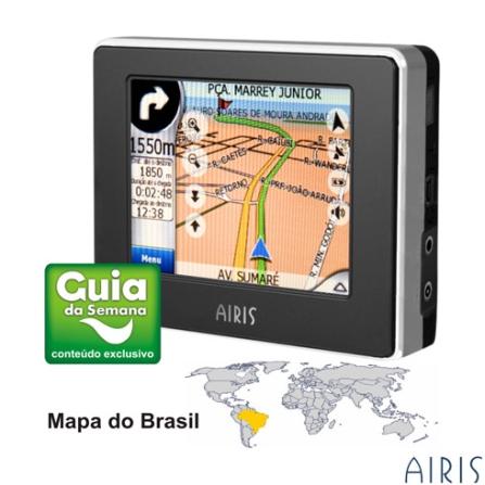 Navegador GPS T930 com Mapas do Brasil e Conteúdo Guia da Semana - Airis - GPST930P
