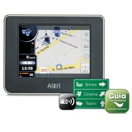 Navegador GPS T935 311 Cidades / Mapas 3D Airis, Bivolt, Bivolt, Preto