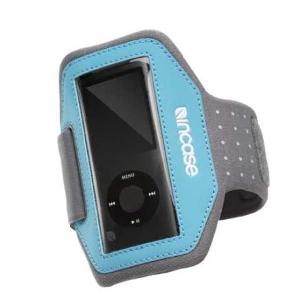 Faixa de Braço Cinza e Azul Emborrachada para iPod Nano 4° Geração - CL56176, 03 meses