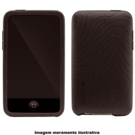 Capa Preta de Silicone para iPod Touch 2° Geração - Inacse - CL56193, Preto, 03 meses