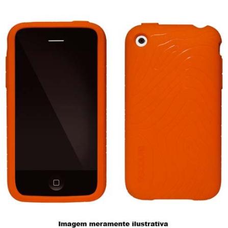 Capa Laranja de Silicone para iPhone 3° Geração - Incase - CL59053, Laranja, 03 meses
