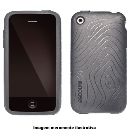 Capa Preta de Plástico em Relevo para iPhone 3° Geração - Incase - CL59089, 03 meses