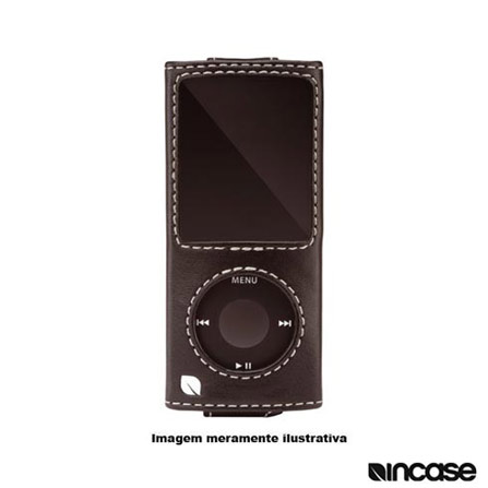 Capa Preta de Couro para iPod Nano 4° Geração - Incase - ES86083, 03 meses
