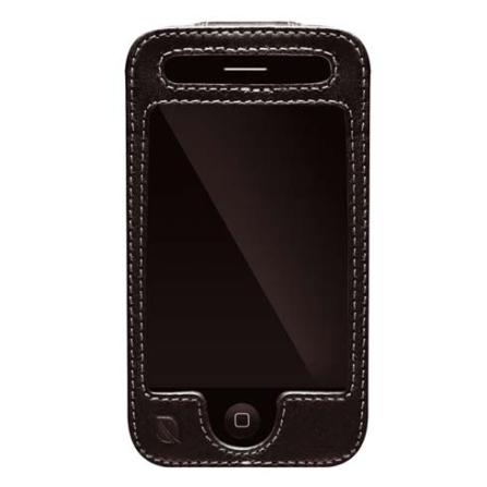 Capa Preta de Couro para iPhone 3° Geração - Incase - ES89025B, 03 meses