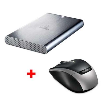 HD Externo 250 GB Iomega +Mouse Wireless Microsoft