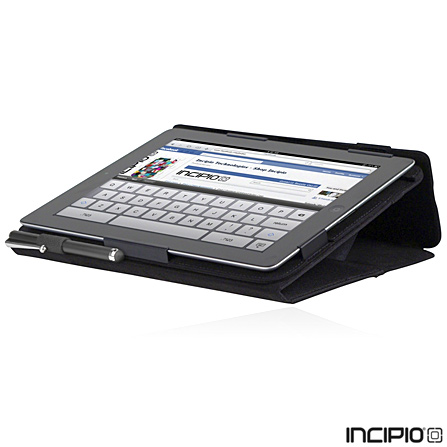 Capa Folio para iPad 3 em Nylon Incipio Preta - IPAD-250