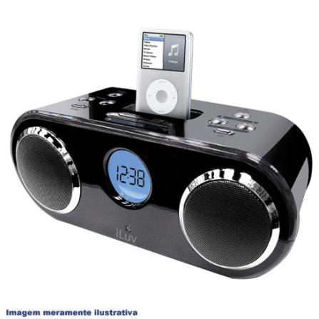 Dock para iPod com Rádio Relógio iLuv, 110V