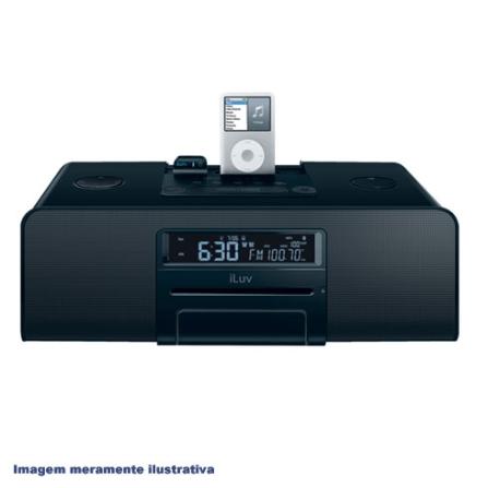 Dock HI-FI Preto / Bluetooth / para iPod - iLuv - I199PT