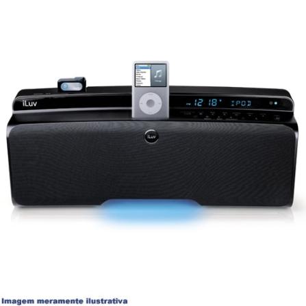 Dock Hi-Fi com Bluetooth / Rádio FM / Preto - iLuv - I399